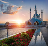 Ηλιοβασίλεμα πέρα από την kul-Shar στοκ φωτογραφίες