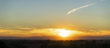 Ηλιοβασίλεμα πέρα από τις ιταλικές Άλπεις Στοκ Φωτογραφίες