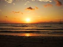 Ηλιοβασίλεμα πέρα από τον κόλπο Palma Στοκ Εικόνες