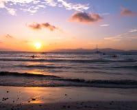 Ηλιοβασίλεμα πέρα από τον κόλπο Palma Στοκ εικόνες με δικαίωμα ελεύθερης χρήσης