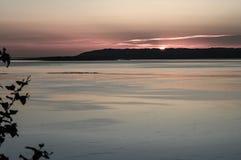 Ηλιοβασίλεμα πέρα από τον ποταμό Palouse Στοκ Εικόνες