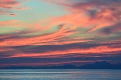 Ηλιοβασίλεμα πέρα από το Μονακό Στοκ Εικόνα