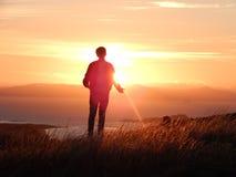 Ηλιοβασίλεμα πέρα από το νόμο Στοκ φωτογραφία με δικαίωμα ελεύθερης χρήσης