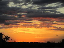 Ηλιοβασίλεμα πέρα από το νότιο Τέξας Στοκ φωτογραφία με δικαίωμα ελεύθερης χρήσης