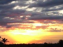 Ηλιοβασίλεμα πέρα από το νότιο Τέξας Στοκ Εικόνες