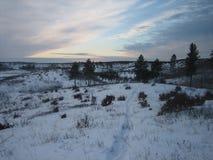 Ηλιοβασίλεμα πέρα από το Barrens Στοκ Φωτογραφίες