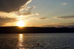 Ηλιοβασίλεμα πέρα από το Hudson Στοκ φωτογραφία με δικαίωμα ελεύθερης χρήσης