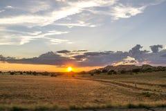 Ηλιοβασίλεμα πέρα από το Utah Στοκ εικόνα με δικαίωμα ελεύθερης χρήσης
