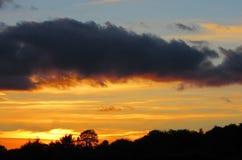 Ηλιοβασίλεμα πέρα από Kenmare, ιρλανδική αγελάδα, Ιρλανδία Στοκ εικόνες με δικαίωμα ελεύθερης χρήσης