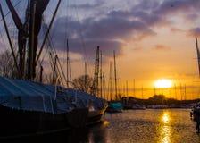 Ηλιοβασίλεμα πέρα από Maldon στοκ εικόνα με δικαίωμα ελεύθερης χρήσης