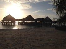 Ηλιοβασίλεμα πέρα από Zanzibar Στοκ Φωτογραφίες