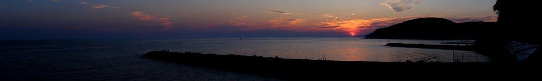 Ηλιοβασίλεμα πανοράματος Στοκ εικόνες με δικαίωμα ελεύθερης χρήσης
