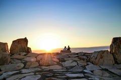Ηλιοβασίλεμα παραλιών της Ιαπωνίας Shirahama Στοκ εικόνες με δικαίωμα ελεύθερης χρήσης