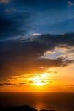 ηλιοβασίλεμα παραλιών τ&rho Στοκ Εικόνα