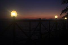 ηλιοβασίλεμα παραλιών τ&rho Στοκ εικόνα με δικαίωμα ελεύθερης χρήσης