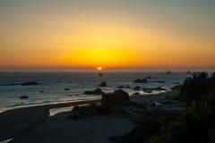 Ηλιοβασίλεμα παραλιών Harris Στοκ εικόνες με δικαίωμα ελεύθερης χρήσης