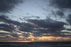 Ηλιοβασίλεμα παραλιών Myers οχυρών Στοκ φωτογραφίες με δικαίωμα ελεύθερης χρήσης
