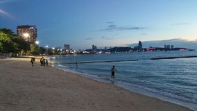 Ηλιοβασίλεμα παραλιών Pattaya Στοκ Φωτογραφίες