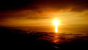Ηλιοβασίλεμα παραλιών Reculver Στοκ Φωτογραφίες