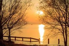Ηλιοβασίλεμα ποταμών της Νίκαιας Στοκ Εικόνες