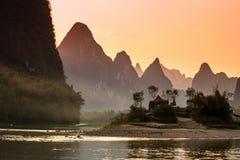 Ηλιοβασίλεμα ποταμών Lijiang Στοκ εικόνες με δικαίωμα ελεύθερης χρήσης