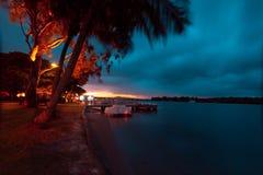 Ηλιοβασίλεμα ποταμών Noosa Στοκ εικόνες με δικαίωμα ελεύθερης χρήσης