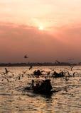 Ηλιοβασίλεμα ποταμών Yangon Στοκ εικόνα με δικαίωμα ελεύθερης χρήσης