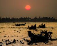Ηλιοβασίλεμα ποταμών Yangon Στοκ φωτογραφία με δικαίωμα ελεύθερης χρήσης
