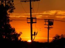 Ηλιοβασίλεμα πόλεων στοκ εικόνα με δικαίωμα ελεύθερης χρήσης