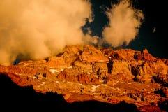 Ηλιοβασίλεμα σε Aconcagua Στοκ Φωτογραφίες