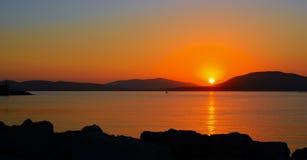Ηλιοβασίλεμα σε Alghero μια σαφή ημέρα Στοκ φωτογραφία με δικαίωμα ελεύθερης χρήσης