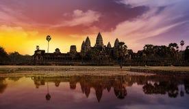 Ηλιοβασίλεμα σε Angkor Στοκ εικόνα με δικαίωμα ελεύθερης χρήσης