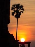 Ηλιοβασίλεμα σε Angkor Wat Στοκ φωτογραφία με δικαίωμα ελεύθερης χρήσης