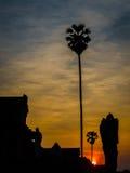 Ηλιοβασίλεμα σε Angkor Wat Στοκ εικόνα με δικαίωμα ελεύθερης χρήσης