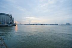 Ηλιοβασίλεμα σε Antwerpen Στοκ Φωτογραφία