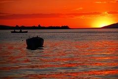 Ηλιοβασίλεμα σε Apolyont Στοκ Φωτογραφίες