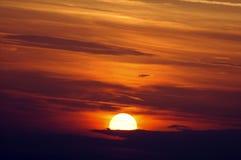 Ηλιοβασίλεμα σε Blaye (Γαλλία) στοκ φωτογραφία με δικαίωμα ελεύθερης χρήσης