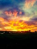 Ηλιοβασίλεμα σε Borre Στοκ εικόνα με δικαίωμα ελεύθερης χρήσης