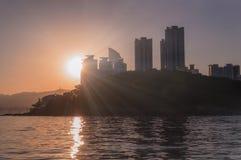 Ηλιοβασίλεμα σε Busan Στοκ Εικόνα