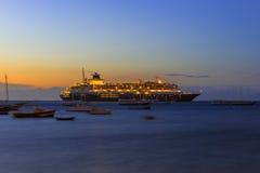 Ηλιοβασίλεμα σε Buzios de janeiro Ρίο Στοκ Εικόνες