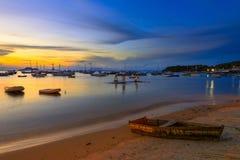 Ηλιοβασίλεμα σε Buzios de janeiro Ρίο Στοκ Φωτογραφίες