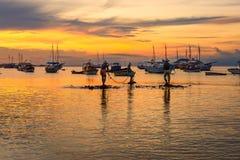 Ηλιοβασίλεμα σε Buzios de janeiro Ρίο Στοκ Φωτογραφία