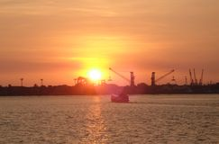 Ηλιοβασίλεμα σε Ccohin Στοκ εικόνα με δικαίωμα ελεύθερης χρήσης