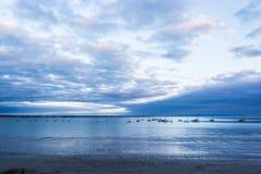 Ηλιοβασίλεμα σε Fouesnant, Γαλλία Στοκ φωτογραφίες με δικαίωμα ελεύθερης χρήσης