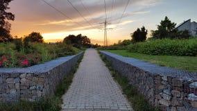 Ηλιοβασίλεμα σε Geldrop στοκ εικόνα με δικαίωμα ελεύθερης χρήσης