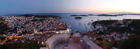 Ηλιοβασίλεμα σε Hvar, Κροατία Στοκ εικόνα με δικαίωμα ελεύθερης χρήσης