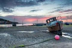 Ηλιοβασίλεμα σε Instow Στοκ φωτογραφία με δικαίωμα ελεύθερης χρήσης
