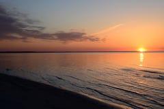 Ηλιοβασίλεμα σε Jurmala Στοκ φωτογραφίες με δικαίωμα ελεύθερης χρήσης