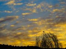 Ηλιοβασίλεμα σε Juslibol κοντά σε Σαραγόσα Στοκ φωτογραφίες με δικαίωμα ελεύθερης χρήσης