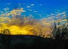 Ηλιοβασίλεμα σε Juslibol κοντά σε Σαραγόσα Στοκ εικόνες με δικαίωμα ελεύθερης χρήσης